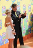 David Hasselhoff & Hayley Roberts Stock Photo