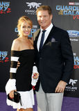 David Hasselhoff and Hayley Roberts Stock Photos