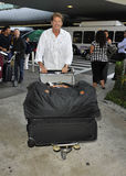 David Hasselhoff is seen at LAX Stock Image