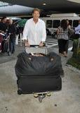 David Hasselhoff is seen at LAX Stock Image