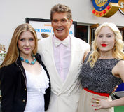 David Hasselhoff, Taylor Ann Hasselhoff and Hayley Hasselhoff Royalty Free Stock Photo