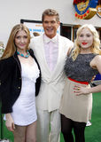 David Hasselhoff, Taylor Ann Hasselhoff and Hayley Hasselhoff Royalty Free Stock Photography