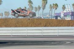 David Hiddins 75, przejażdżki Subaru WRX STI samochód podczas Czerwonych Bu, Obrazy Royalty Free