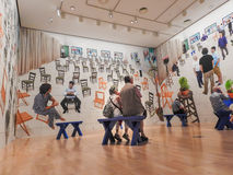 David Hockney-Ausstellung 2 Stockfotografie