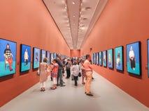 David Hockney utställning Royaltyfri Bild