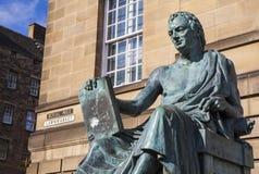 David Hume Statue in Edinburgh stock fotografie