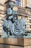 David Hume Statue in Edinburgh stock photos