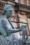 David Hume Statue in Edinburgh stock photography