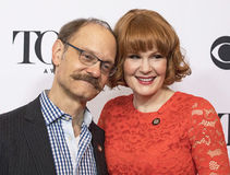 David Hyde Pierce och Kate Baldwin arkivfoton