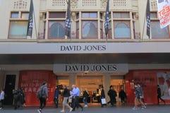 David Jones-Kaufhaus Melbourne Australien Lizenzfreies Stockfoto