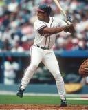 David Justice, de los Atlanta Braves Fotos de archivo libres de regalías