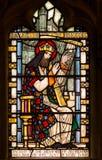 David King von Israel Stained Glass Window Stockfoto
