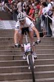 David Knap - la raza 2011 de la bici de Praga Foto de archivo libre de regalías