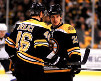 David Krejci and Andrew Ference Stock Photography
