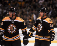 David Krejci and Mark Recchi, Boston Bruins Stock Images