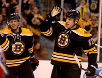 David Krejci and Milan Lucic Boston Bruins Royalty Free Stock Photo