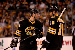 David Krejci and Nathan Horton, Boston Bruins NHL Royalty Free Stock Photos