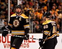 David Krejci y Chara de Zdeno, Boston Bruins Fotografía de archivo libre de regalías