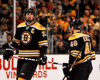 David Krejci and Zdeno Chara, Boston Bruins Royalty Free Stock Photography