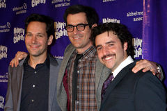 David Krumholtz, Paul Rudd, Ty Burrell. LOS ANGELES - JAN 13:  Paul Rudd, Ty Burrell, David Krumholtz  arrives at  the Hilarity For Charity Benefit at Vibiana on Stock Photo
