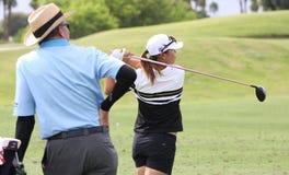 David Leadbetter and Lydia Ko at the ANA inspiration golf tournament 2015 Stock Image