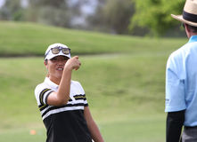 David Leadbetter and Lydia Ko at the ANA inspiration golf tournament 2015 Stock Images