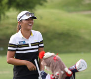 David Leadbetter and Lydia Ko at the ANA inspiration golf tournament 2015 Royalty Free Stock Photo