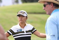 David Leadbetter y Lydia Ko en la inspiración de la ANECDOTARIO golf el torneo 2015 fotos de archivo