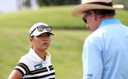 David Leadbetter y Lydia Ko en la inspiración de la ANECDOTARIO golf el torneo 2015 imagen de archivo libre de regalías