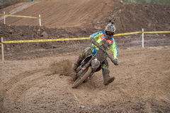 David Leonov 156 (Terehovo 13, Moscow). MOSCOW-OCTOBER 10: David Leonov 156 (Terehovo 13, Moscow), class MOTO, in the 5 stage of the XSR-MOTO.RU Cross Country in Stock Image