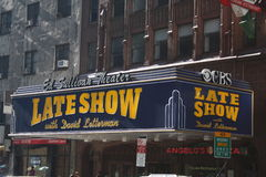 David Letterman Ed Sullivan Thearter Royalty Free Stock Photography