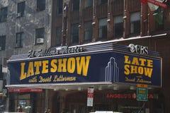 David Letterman Ed Sullivan Thearter Royalty Free Stock Photography