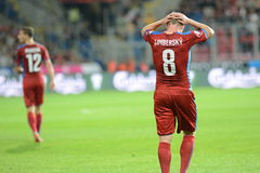 David Limbersky. Pilsen 04/09/2015 _ Match of the EURO 2016 qualification group A Czech Republic - Kazakhstan royalty free stock photo