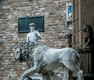David and lion statue florence Royalty Free Stock Photo