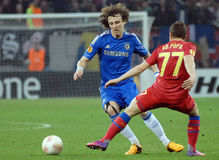 David Luiz in action Royalty Free Stock Images