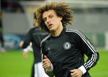 David Luiz of Chelsea. Chelsea's David Luiz pictured in action before the UEFA Champions League group E game between Steaua Bucharest and Chelsea FC, on National Stock Photography