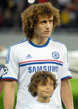David Luiz of Chelsea. Chelsea's David Luiz pictured before the UEFA Champions League group E game between Steaua Bucharest and Chelsea FC, on National Arena Royalty Free Stock Photo