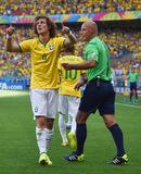 David Luiz Coupe du Monde 2014 Fotos de Stock Royalty Free