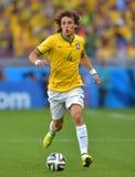 David Luiz Coupe du Monde 2014 Foto de Stock Royalty Free