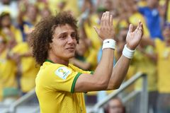 David Luiz Coupe du Monde 2014 Imagens de Stock Royalty Free