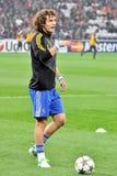 David Luiz mit Kugel Stockfotografie