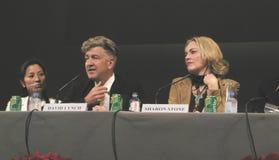 David Lynch & Sharon Stone royalty free stock images