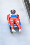 David Mair - italian luge. Concentrated David Mair from Italy in men's singles luge race held in Altenberg in Germany on 21.2.2015 Stock Images
