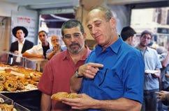 David Mamet y Ehud Olmert Fotografía de archivo libre de regalías