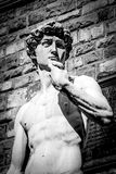David marble statue in Florence. David marble statue, masterpiece of Renaissance sculpture, in Florence, Italy Stock Image