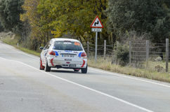 David Martinez and Sergio Cerzo driving a Peugeot 206 XS Stock Photo