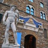 David Michelangelo. David of Michelangelo in Florence Stock Photos