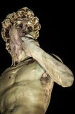 David by Michelangelo, Florence. Michelangelo's David copy by night, Florence Royalty Free Stock Photo