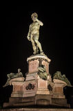 David by Michelangelo, Florence. Michelangelo's David copy by night, Florence Stock Images