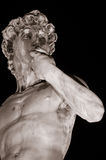 David by Michelangelo, Florence. Michelangelo's David copy by night, Florence Royalty Free Stock Images